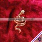 A2116 Anillo De Serpiente Ajustable Ojos de Piedra Diamante Dorado Acero inoxidable bisuteria fabricante mayorista (1)