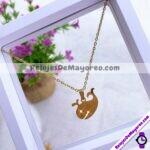 A2279 Set de collar y aretes dije Ballena dorado Acero inoxidable bisuteria fabricante mayorista (1)