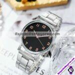 R4337 Reloj Fondo Negro con Detalles Gold Rose Metal reloj de moda al mayoreo